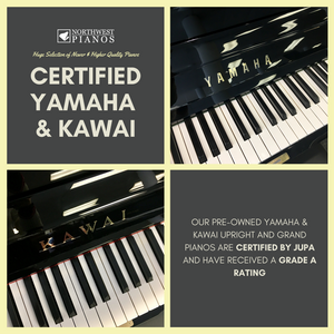 A new shipment of quality pre-owned Yamaha and Kawai pianos has arrived!