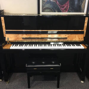 "Hailun HU-1P  48"" Upright Piano w/Birdseye Maple-SOLD"
