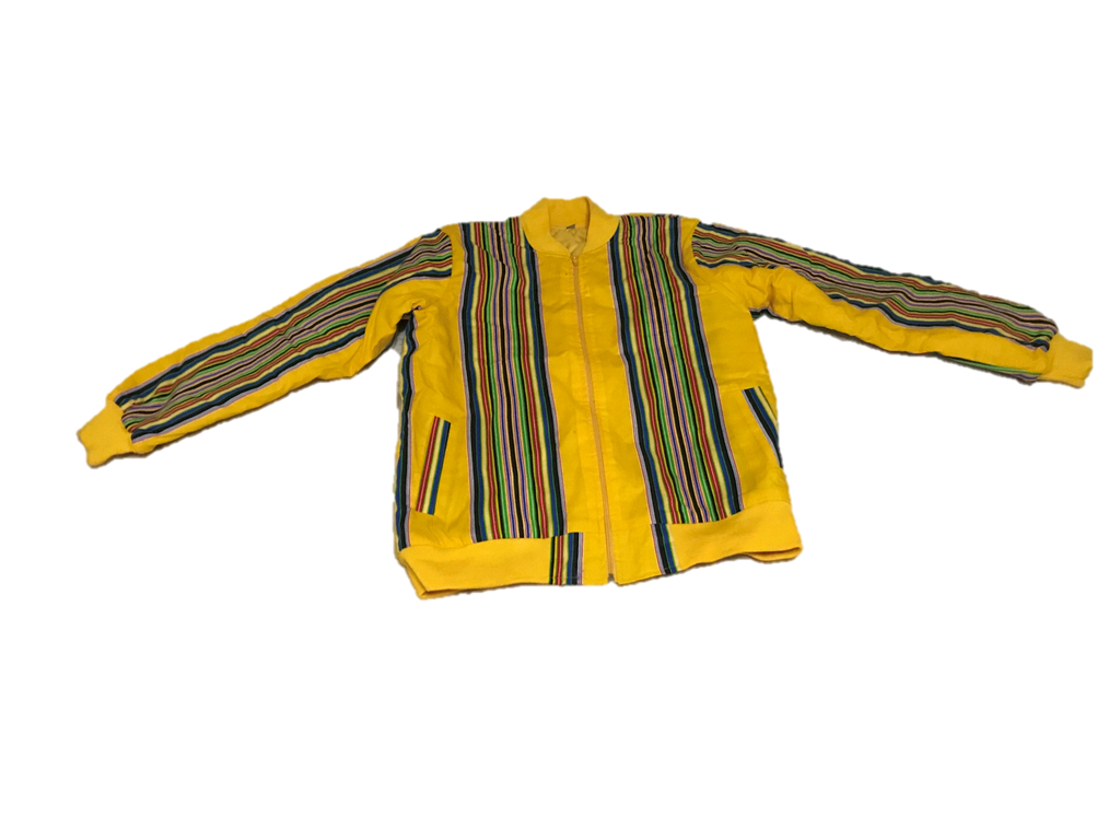 Vhenda yellow bomber jacket