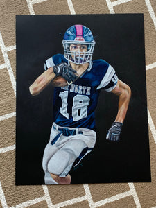 Custom Unframed 18x24 Sports Portrait