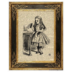 Alice in Wonderland Art Print, Drink Me