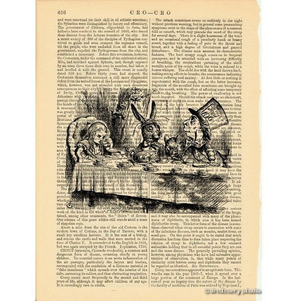 Alice in Wonderland Art Print, Mad Tea Party #1