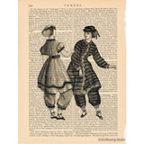 Victorian Bathing Dresses Art Print