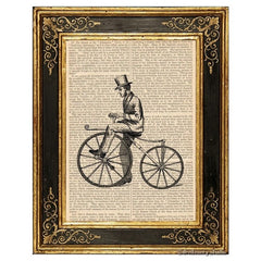 Bone Shaker Bicycle #1 Art Print