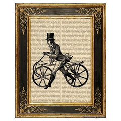 Bone Shaker Bicycle #2 Art Print
