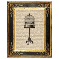Birdcage on Stand Art Print