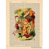 Alice in Wonderland Color Art Print, Chatting with Duchess