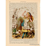 Alice in Wonderland Color Art Print, Pack of Cards