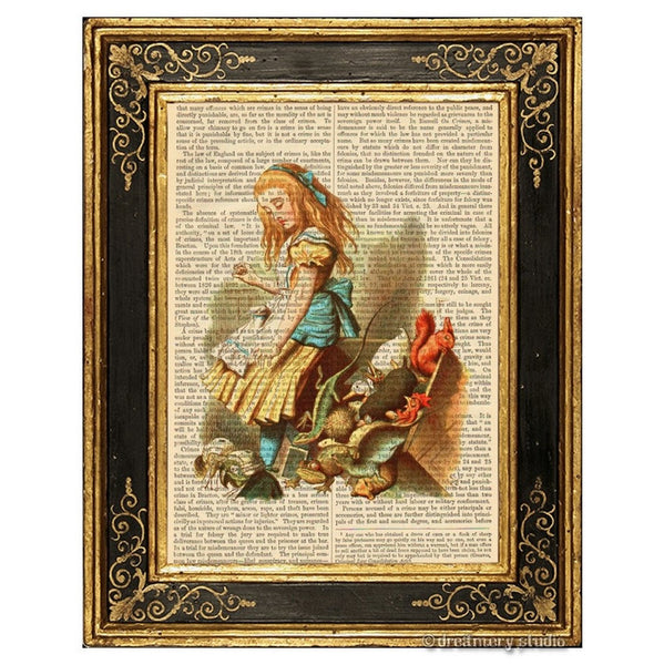Alice in Wonderland Color Art Print, Upset Jury