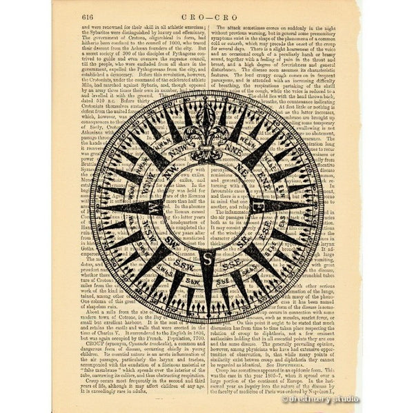 Compass Rose #1 Art Print