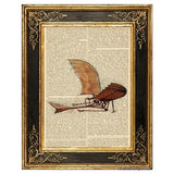 Da Vinci's Flying Machine Art Print