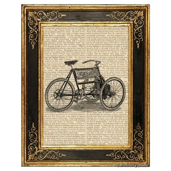 Gladiator Tricycle Art Print