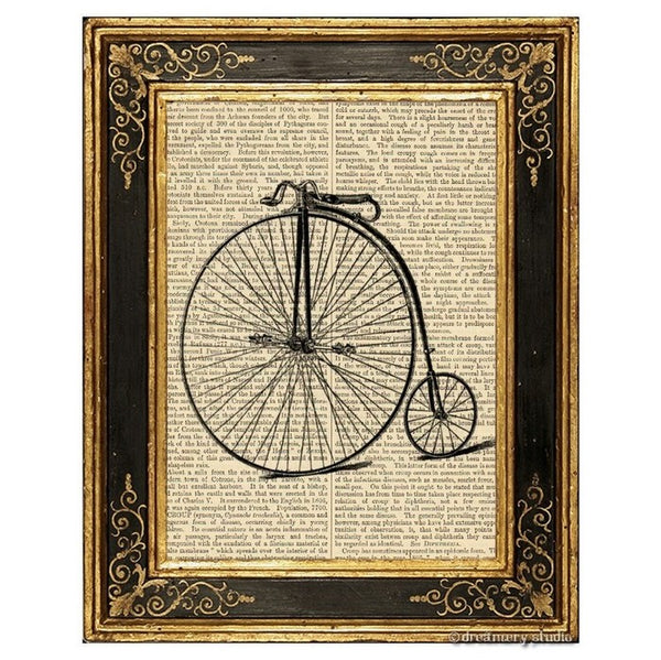 High Wheel Bicycle Art Print