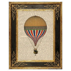Yellow Hot Air Balloon Art Print