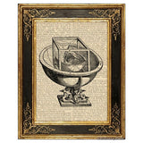 Kepler's Platonic Solid Model #1 Art Print
