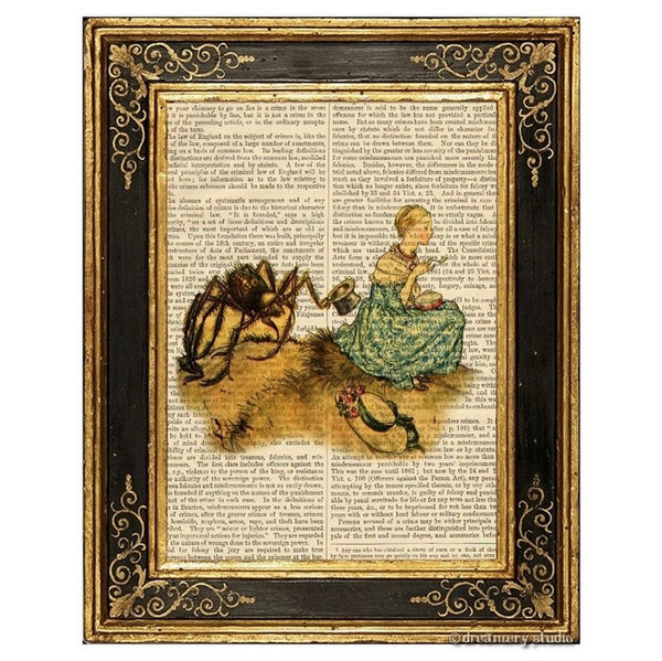 Little Miss Muffet Art Print