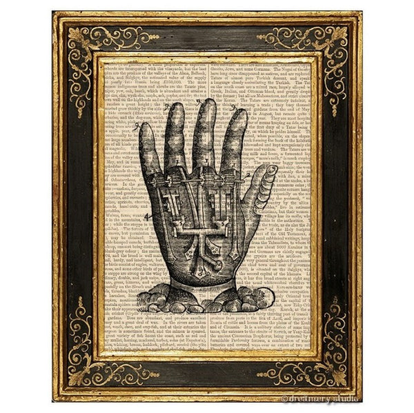 Mechanical Hand Art Print