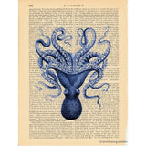 Blue Octopus #3 Art Print