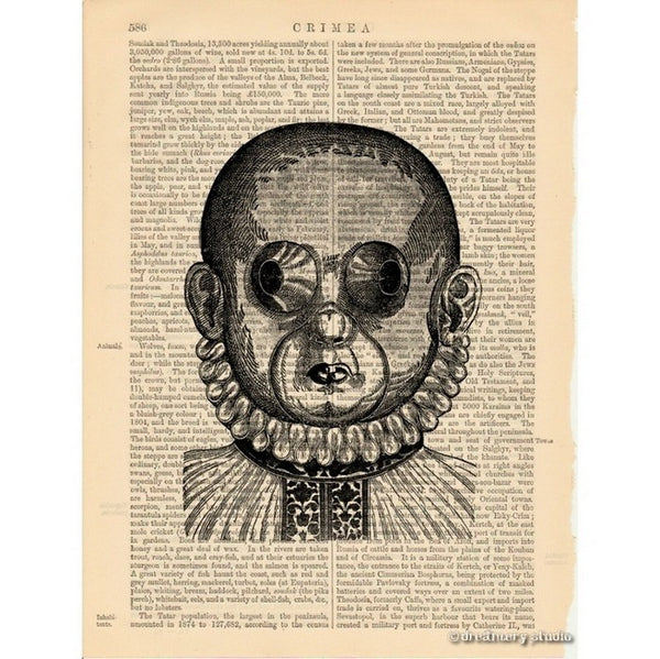 Weird Mask Art Print