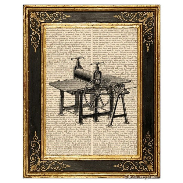 Table Press Art Print