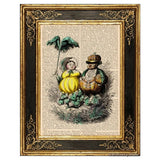 Delicious Veggie Couple Art Print