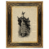 Victorian Bat Girl Costume Art Print