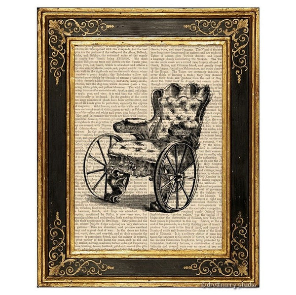 Wheelchair Art Print