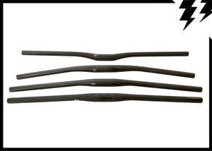 ULTRALIGHT 760MM CARBON FLAT BAR, 9 DEGREE BEND 128G