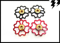 "ULTRALIGHT ""SPEED"" JOCKEY WHEELS 11T, CERAMIC BEARINGS, 5.6G!"