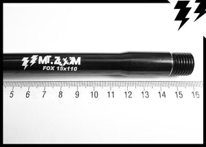 FOX & ROCK SHOX BOOST FRONT THRU AXLES 15x110mmx1.5mm L.156.5mm 37G