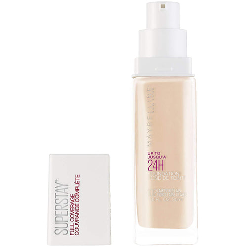 Maybelline Superstay Full Coverage up to 24H Liquid Foundation, 102 Fair Porcelain, 110 Natural Ivory
