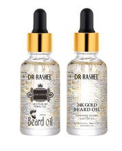 Load image into Gallery viewer, Dr.Rashel 24k Gold Beard Oil For Men Increase Shine and Stopping Beardruff