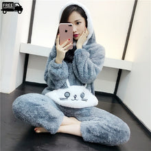 Load image into Gallery viewer, winter suit , women winter clothes , winter pajama suit , girls winter wear , fleece winter suits , fleece winter wear , winter wear for women