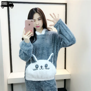 Cute Cartoon Pajama Set Casual Loungewear & Sleepwear