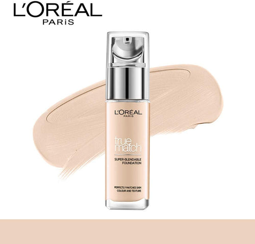 L'Oreal Paris True Match Super Blendable Liquid Foundation, 1.N Ivory, 2.N Vanilla, 3.N Creamy Beige