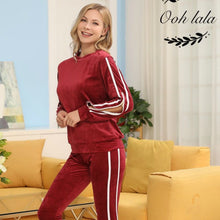Load image into Gallery viewer, Winter Soft Fleece Pajama Set Lounge Wear