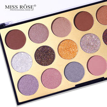 Load image into Gallery viewer, Miss Rose 18 Shades Matte and Shimmer Eyeshadow Palette