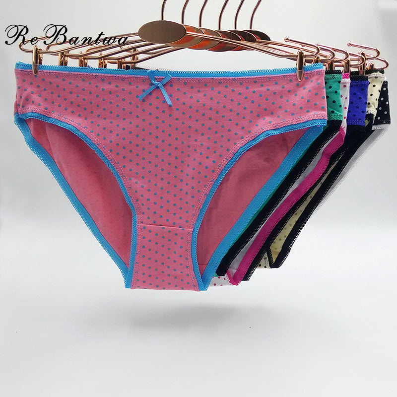 Packs of Brief Mid Waist Underwear Panties
