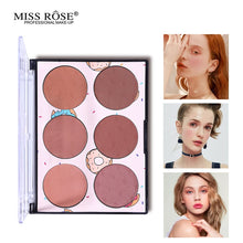 Load image into Gallery viewer, Miss Rose Blush Glow Kit Powder Blusher Palette 6 Color Makeup
