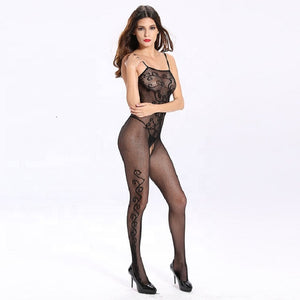 Erotic Open Crotch Sexy Lingerie Full Body Stockings