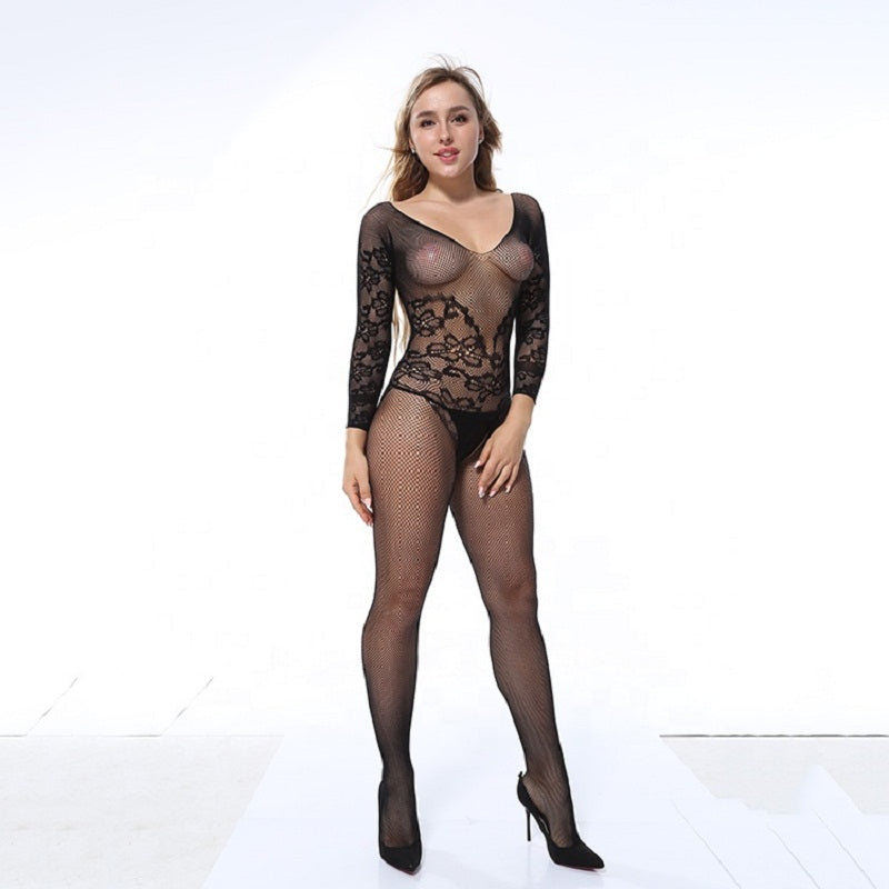 Women Fishnet Babydoll Nightwear Lingerie
