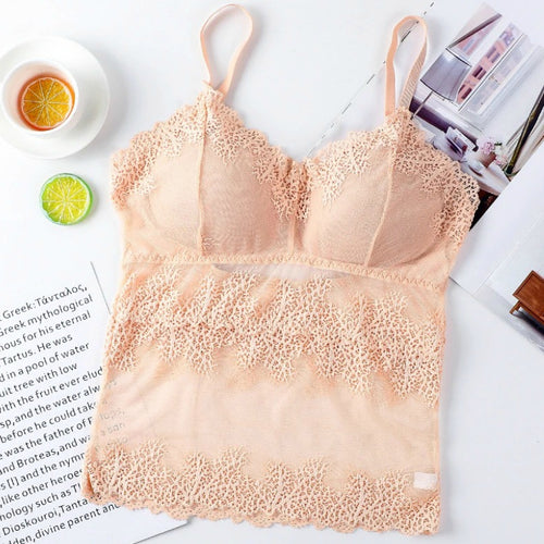 Wireless Removable Pad Floral Lace Bra