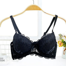 Load image into Gallery viewer, Floral Lightly Padded Underwire Push Up Bra