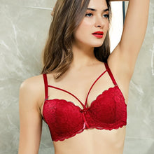 Load image into Gallery viewer, Floral Sheer Lace Wired Bra Comfort Lift for Women