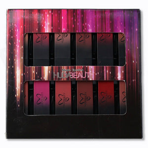 Pack of 12 Multi-Color Beauty Non-Stick Matte Lipstick Set