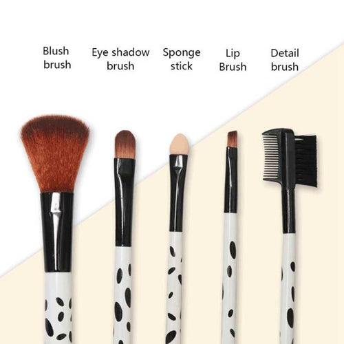 Makeup Brush Set for Eyeshadow, Eyelash, Blush, and Lips, Set of 5