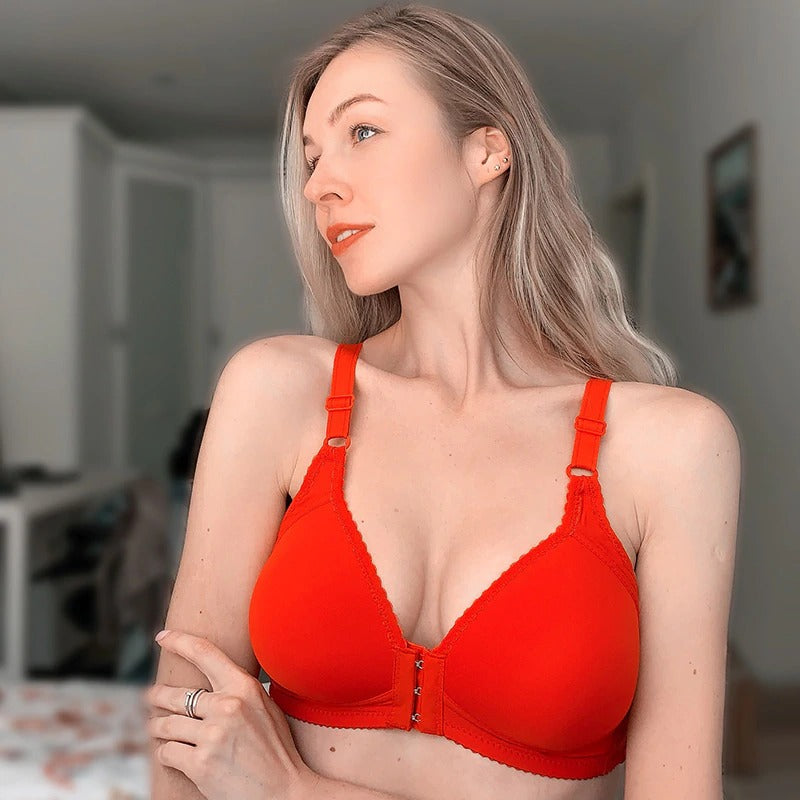 Front Open Non-Wired Thin Padded Cotton Bra