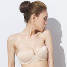 Load image into Gallery viewer, Seamless Demi Cup Bra, Padded Bra, Wired Bra, Demi Cup Bra, Seamless Bra, Half Cup Bra, Wired Padded Bra, Seamless Demi Cup Padded Bra, Soft Nylon Seamless Bra, Demi Cup Bra, Nylon Demi Cup Bra