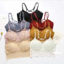 Load image into Gallery viewer, Wireless Breathable Detachable Pads Lace Bra
