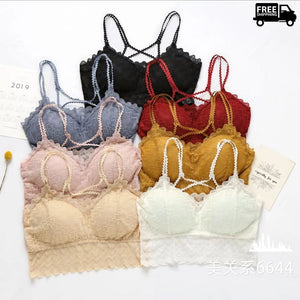 Pack of Wireless Breathable Detachable Pads Lace Bra